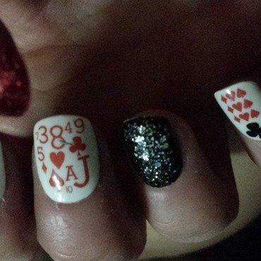 Poker night nails nail art by Teena Breedon