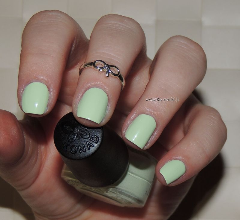 Konad Pastel Green Swatch by Ka'Nails