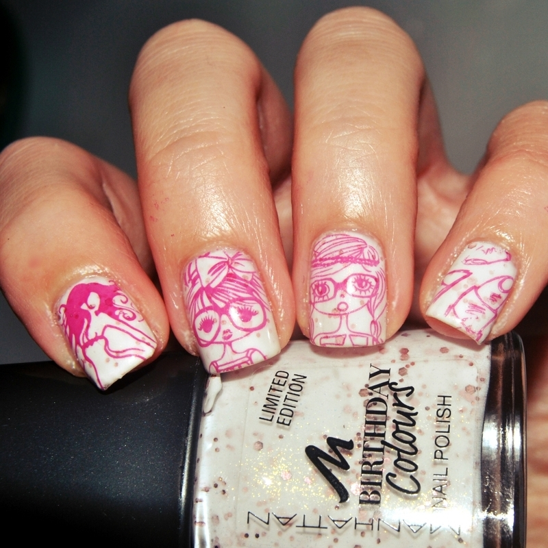 [#31DC2015] Tag 25 - Inspired by....Fashion  nail art by Lackopfer