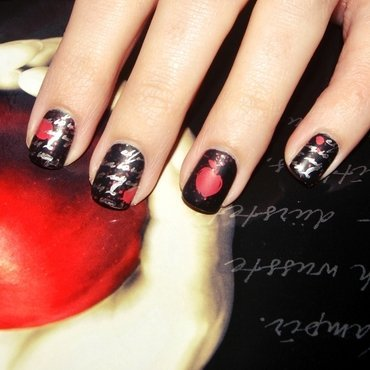 [#31DC2015] Tag 24 - Inspired by...A Book  nail art by Lackopfer
