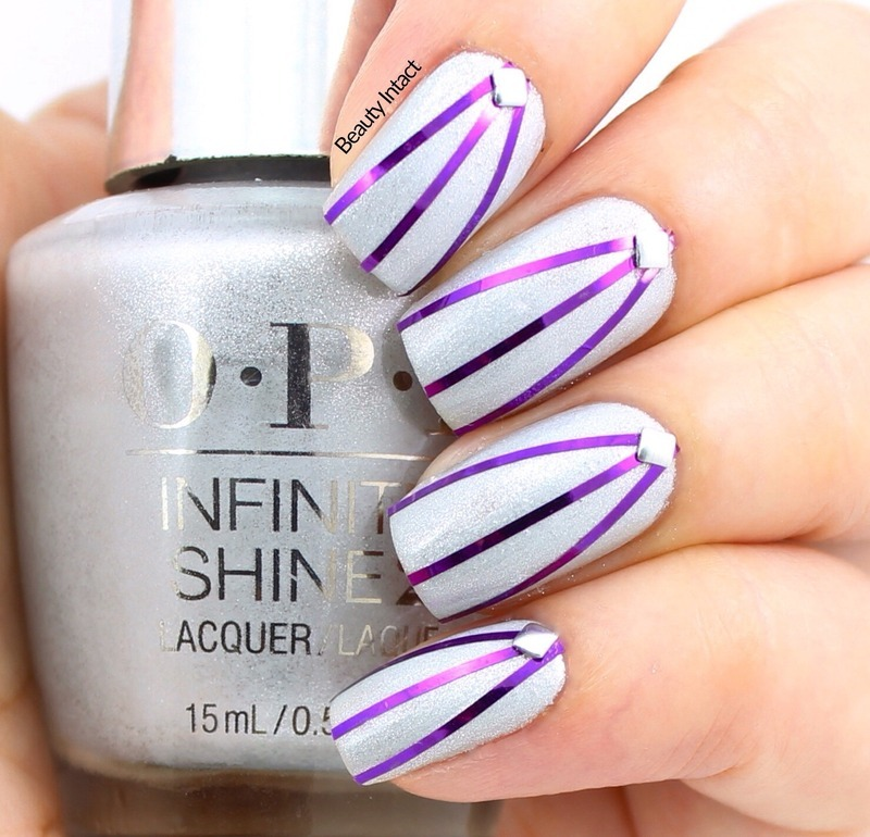 Striping Tape Nails nail art by Beauty Intact