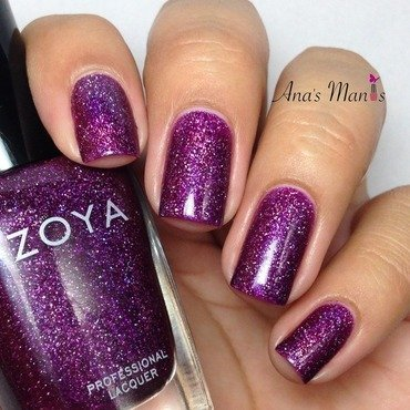 Zoya aurora and Zoya Armor Top Coat Swatch by anas_manis
