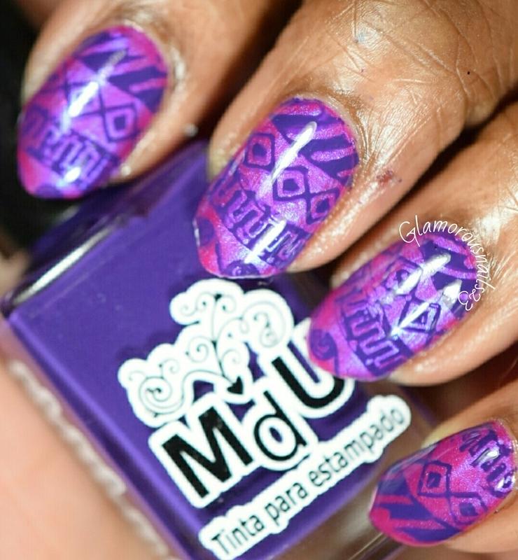 Tribal nail art by glamorousnails23