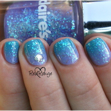 Deep Sea nail art by RedRouge