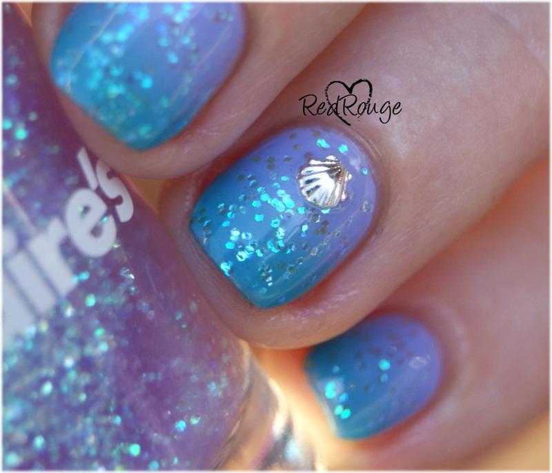 Deep sea macro nail art by RedRouge