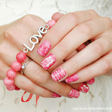 Love, love, love nail art by Olaa