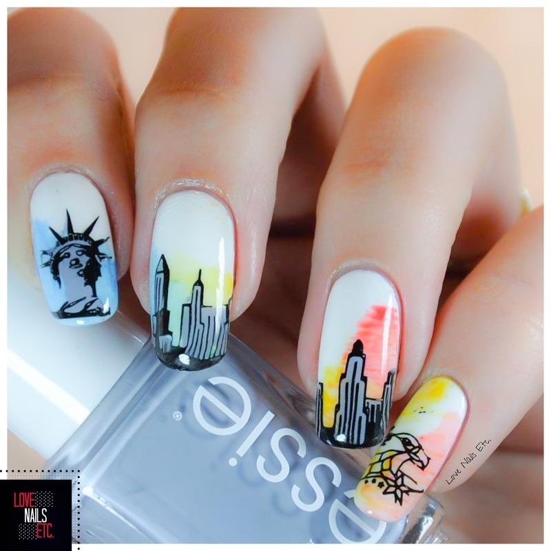 Voyage, voyage nail art by Love Nails Etc