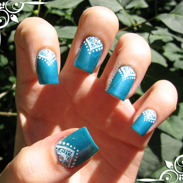 Blue princess nail art by Ninthea