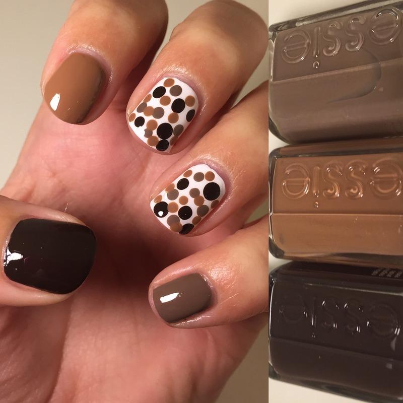 Chocolate Dots  nail art by Amandineprc