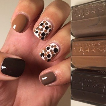 Chocolate Dots  nail art by Amandineprc