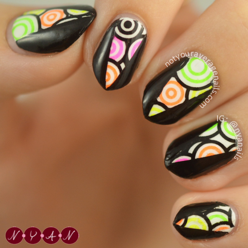 Hypnotic nail art by Becca (nyanails)