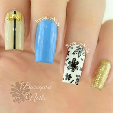 Mix And Match nail art by BaroquenNails