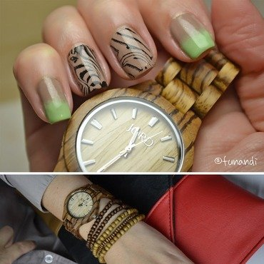 Animal print inspired by a watch nail art by Andrea  Manases