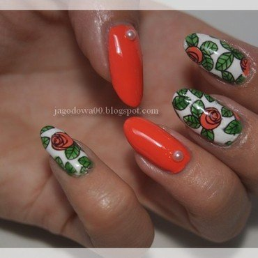 31DC2015 - Orange Nails  nail art by Jadwiga