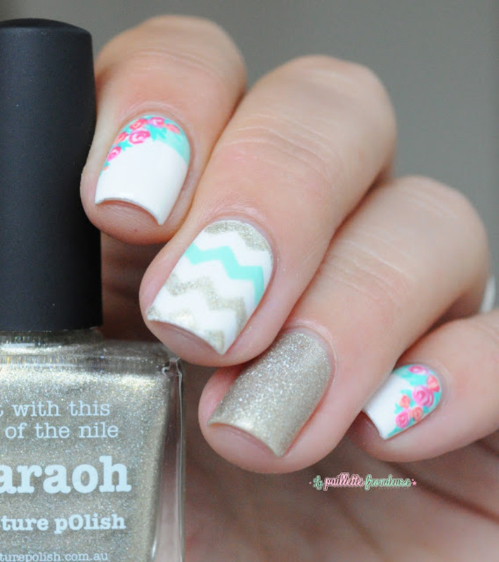 spring forever nail art by nathalie lapaillettefrondeuse