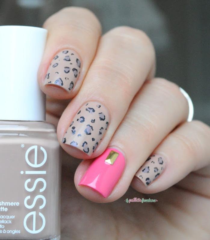 leopard print nail art by nathalie lapaillettefrondeuse