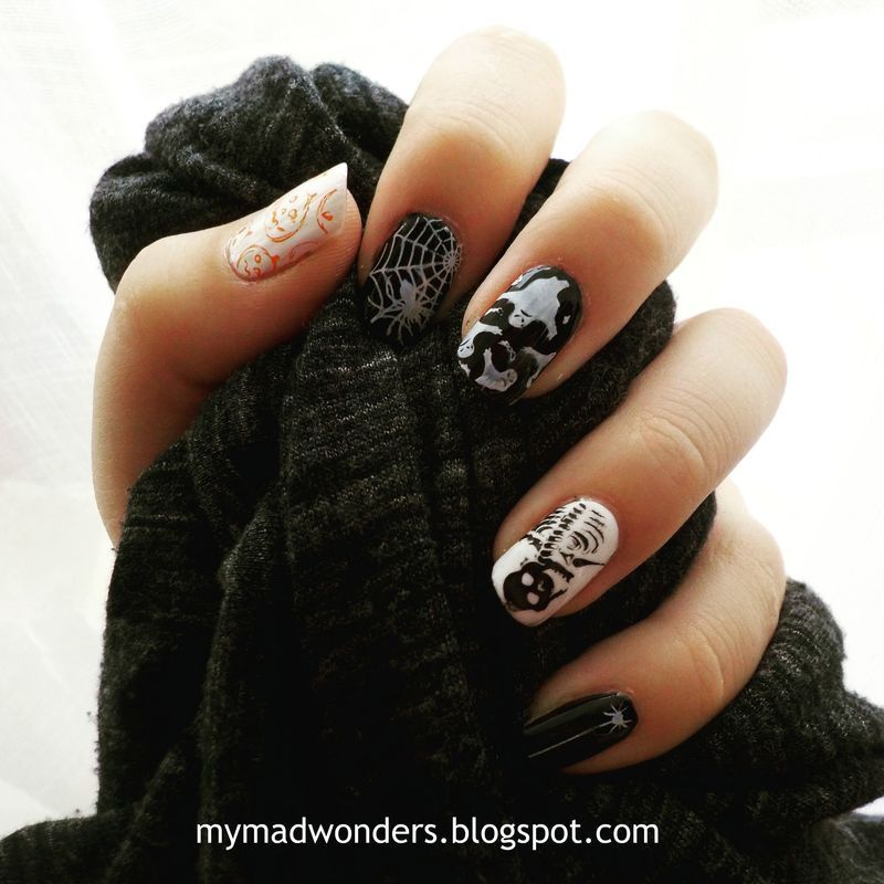 Halloween is coming... nail art by Bajjjbeee