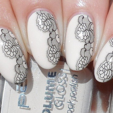 Born Pretty Store Lace Water Decals nail art by Plenty of Colors