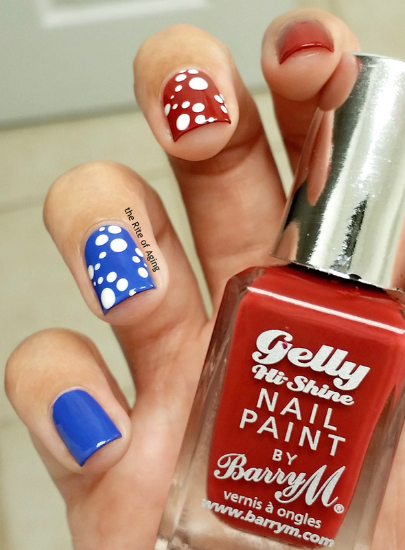 USA Patriotic Dotticure nail art by Monica