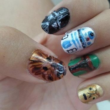 STARWARS #2 nail art by Luzazul