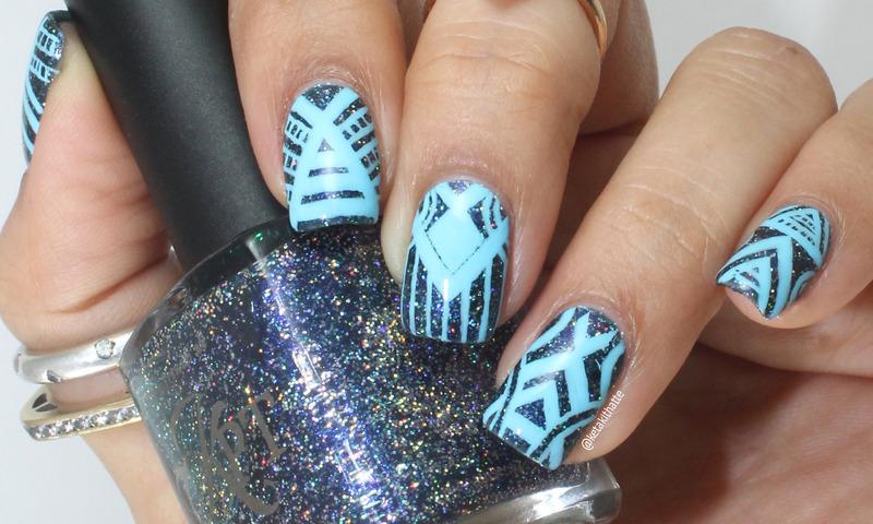 Eva Inspired Tribal nail art by ketaki thatte