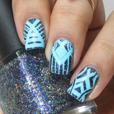 Eva Inspired Tribal nail art by ketaki thatte