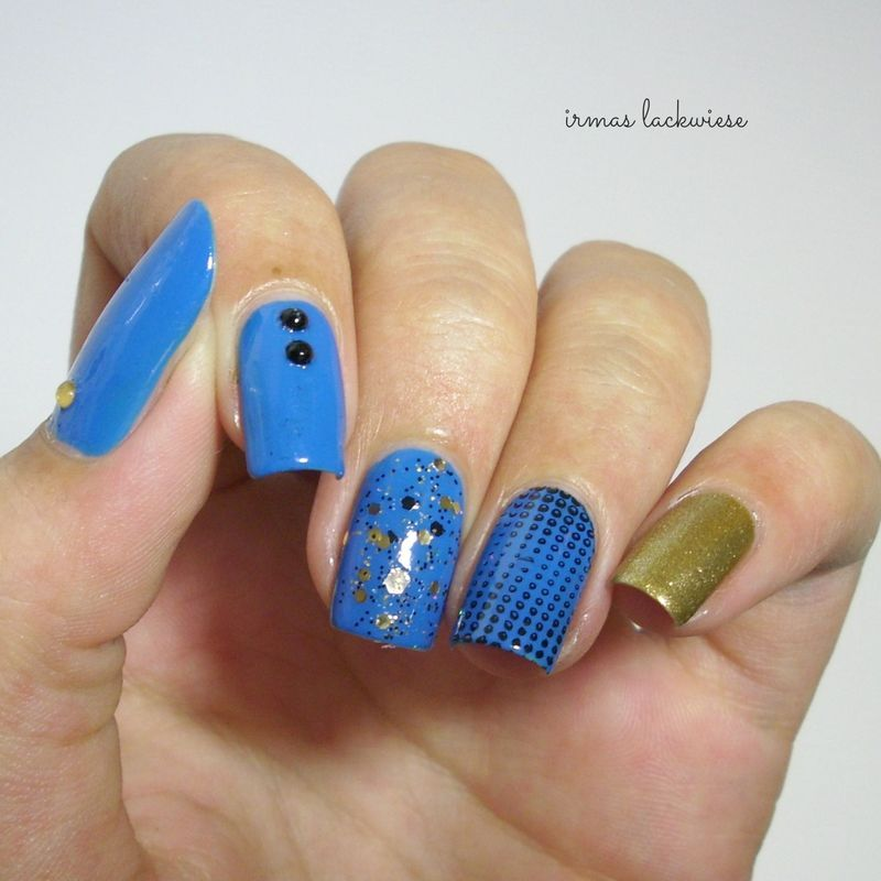 blue skittle nails nail art by irma