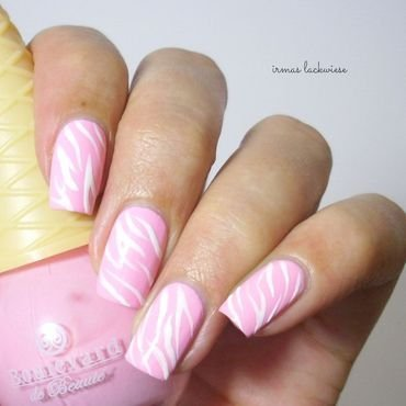girly zebra nail art by irma