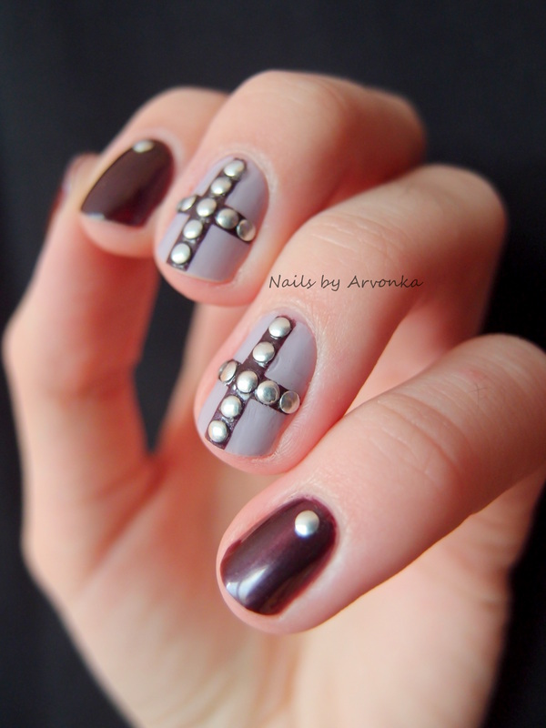 Stud Manicure nail art by Veronika Sovcikova