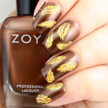 Fall Nails nail art by Beauty Intact