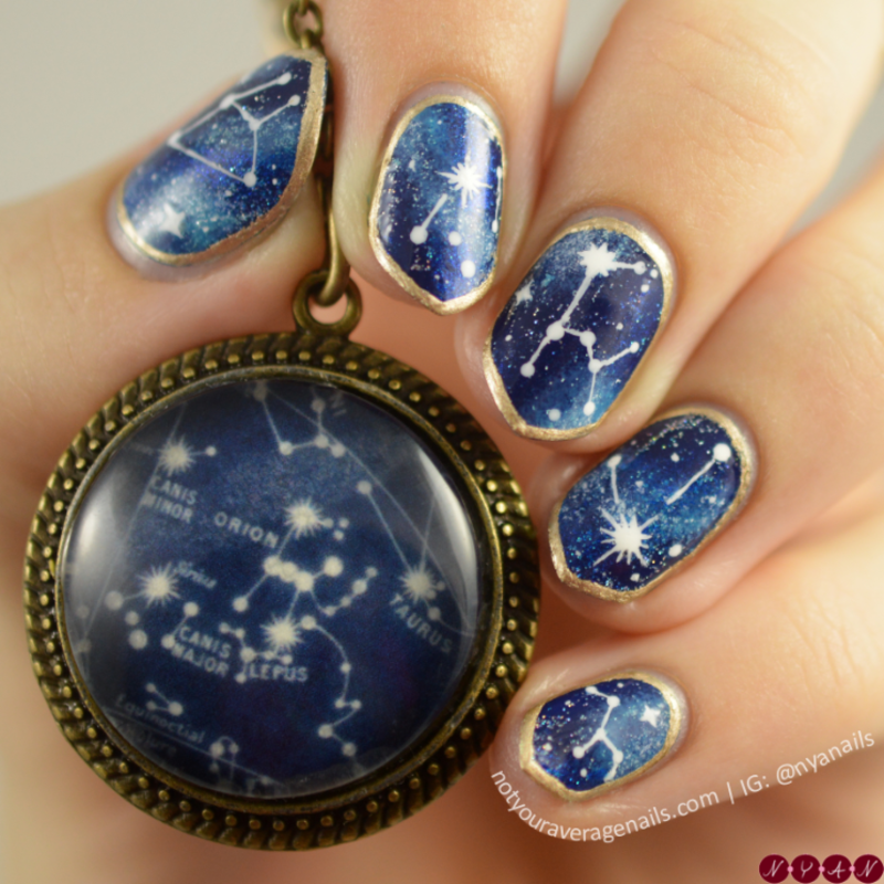 Shine Like Stars nail art by Becca (nyanails)