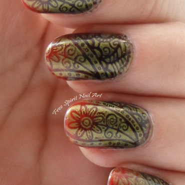 Squishy Stamper Stamping nail art by Free_Spirit_Nail_Art
