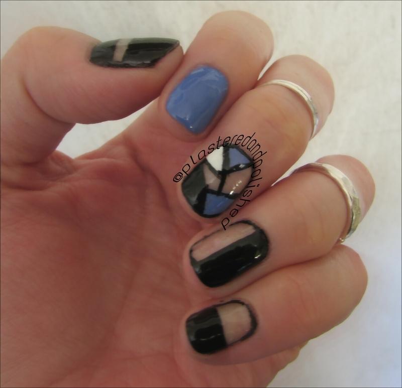 Cutout nails nail art by Anne-Marie Dyal - Nailpolis: Museum of Nail Art