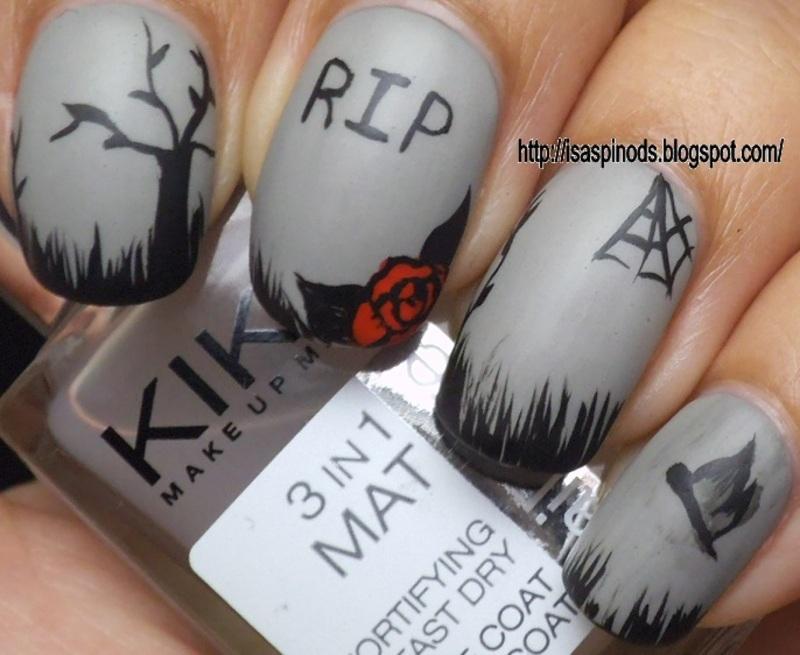 Nail Art Tumbas para Halloween 2014 nail art by Isabel