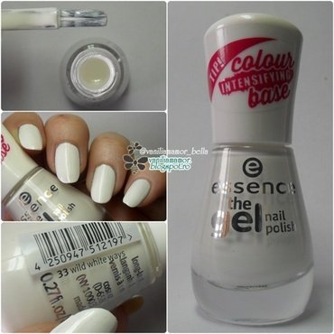 Essence Wild White Ways, Essence 33 Wild White Ways, Essence The Gel Nail Polish Wild White Ways, Essence The Gel Wild white ways, Essence The Gel 33 wild white ways, and Essence The Gel Nail Polish 33 Wild White Ways Swatch by Isabella