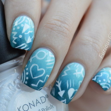 31DC2015 Honour nails you love nail art by Furious Filer