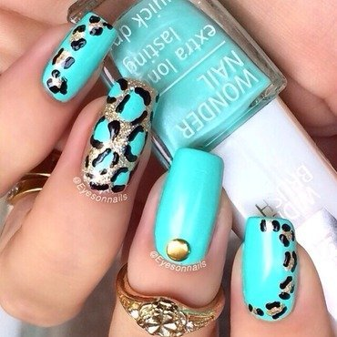 Animal print  nail art by Virginia
