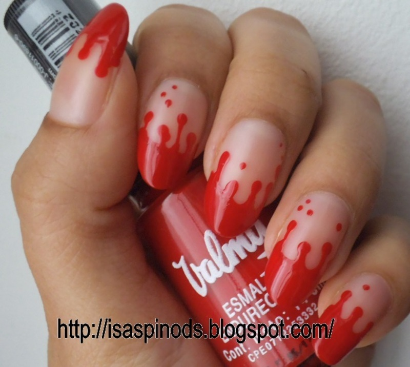 Bloody Nails - Halloween 2013 nail art by Isabel