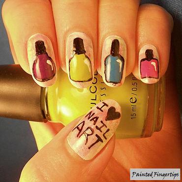 Nail polish bottles nail art nail art by Kerry_Fingertips