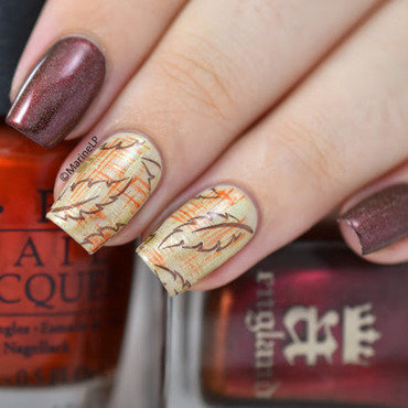 Autumn nail art by Marine Loves Polish