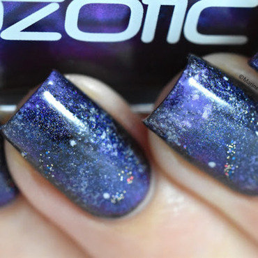 Galaxy nail art by Marine Loves Polish