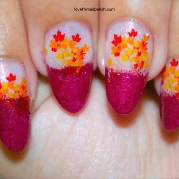 Fall Leaves nail art by Demi