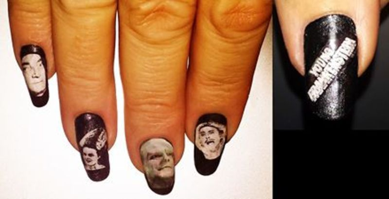 Young Frankenstein nail art by Maureen Spaulding