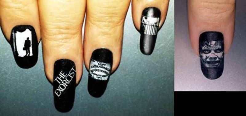 The Exorcist nail art by Maureen Spaulding