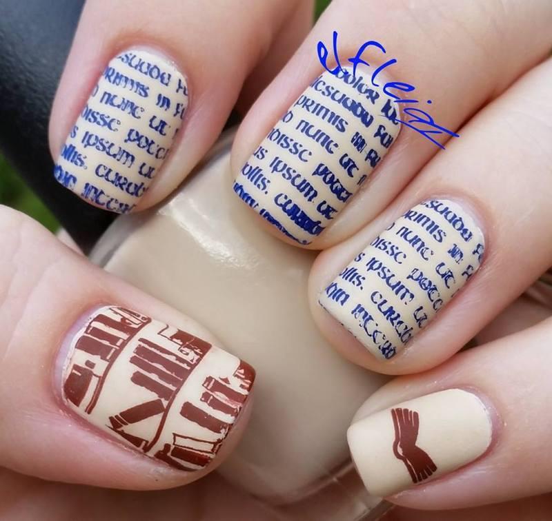 40 Great Nail Art Ideas- Hobbies nail art by Jenette Maitland-Tomblin