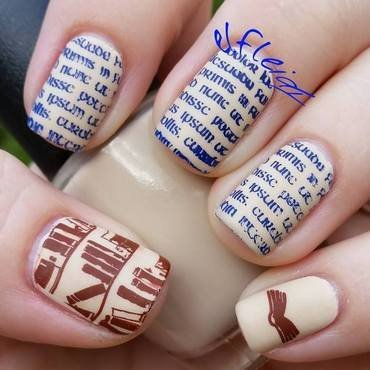 40 Great Nail Art Ideas- Hobbies nail art by Jenette Maitland-Tomblin