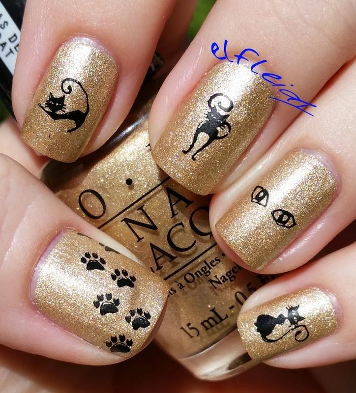 30DoCC 10-01-2015 Gold nail art by Jenette Maitland-Tomblin