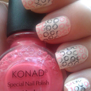 Double colour stamping nail art by Jájis