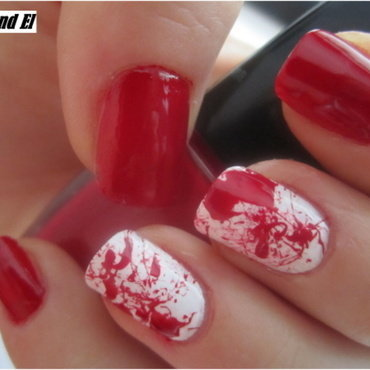 01 RED nails nail art by NailsandEl