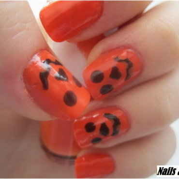 02 ORANGE nails nail art by NailsandEl